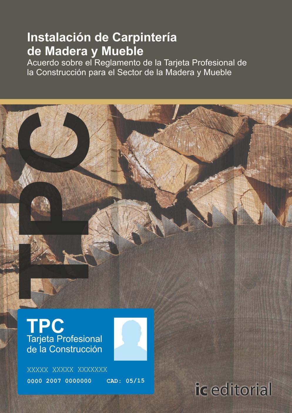 Tpc - madera y mueble - instalación de carpintería de madera y mueble