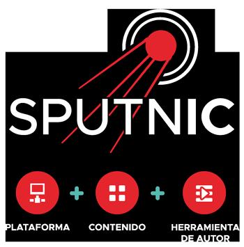 Logo sputnic plataforma e-learning + contenidos de autor + herramienta de autor