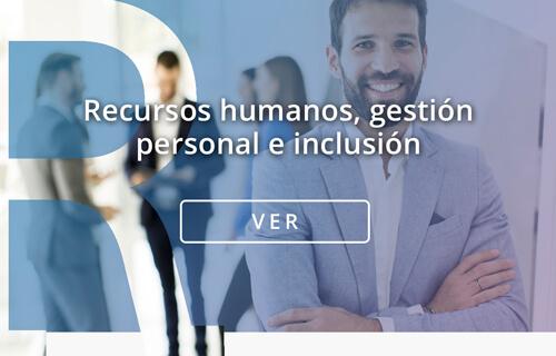 Portada contenidos e learning para Recursos humanos gestión personal e inclusión